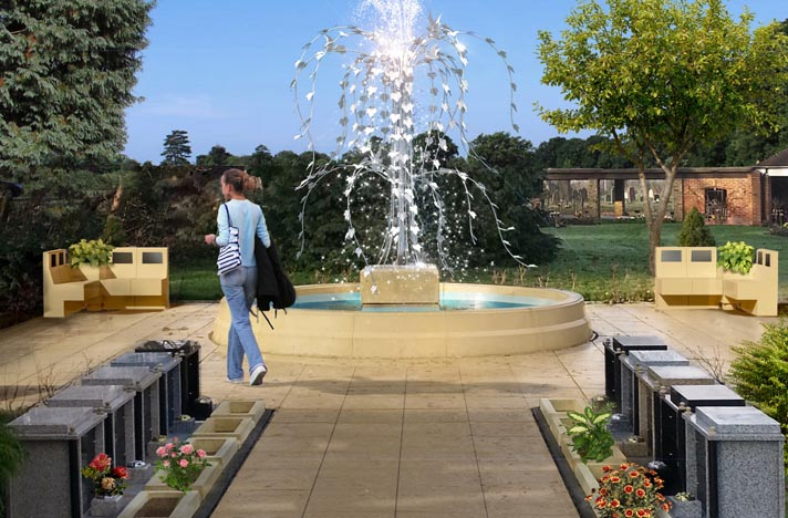 Tree of Life Fountain Memorial garden