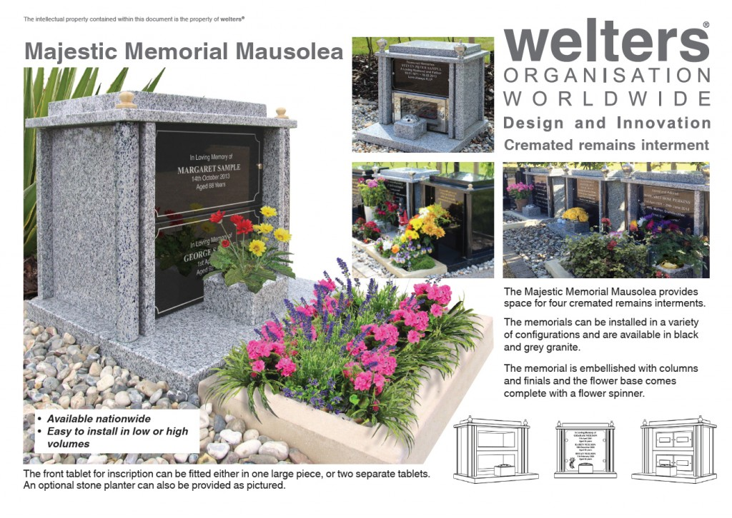 Our Majestic Memorial for cremated remains is available for nationwide delivery in small or large quantities.