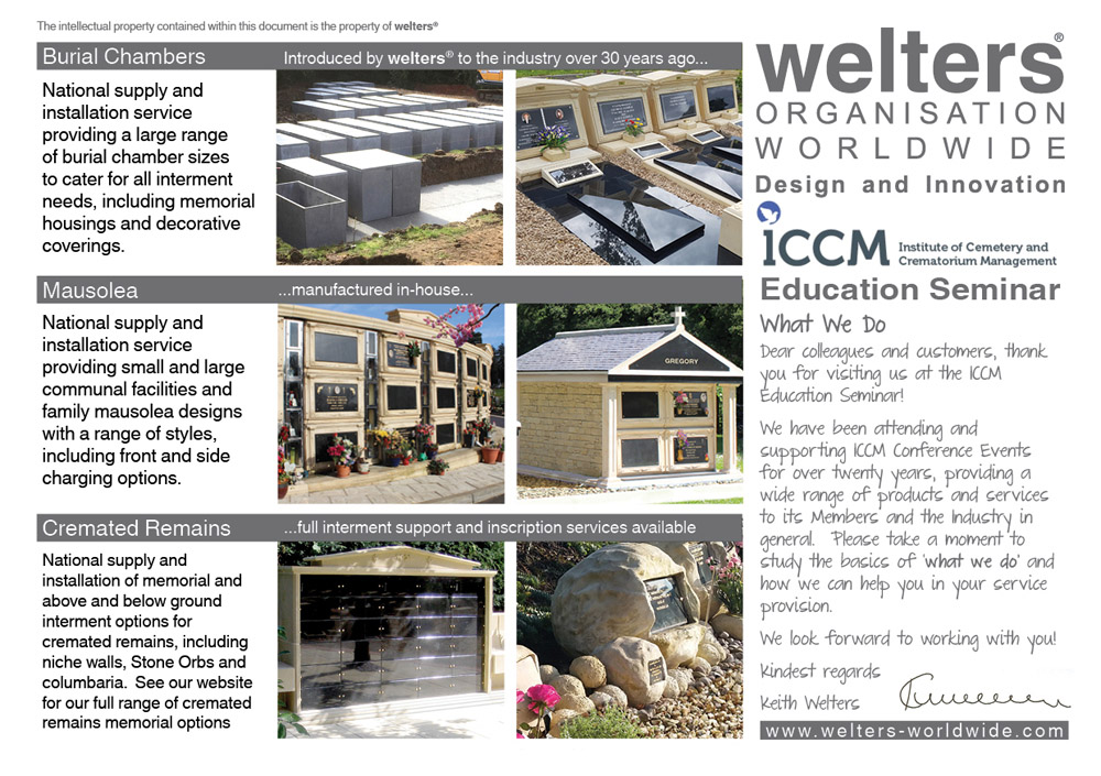ICCM Education Seminar - welters core services