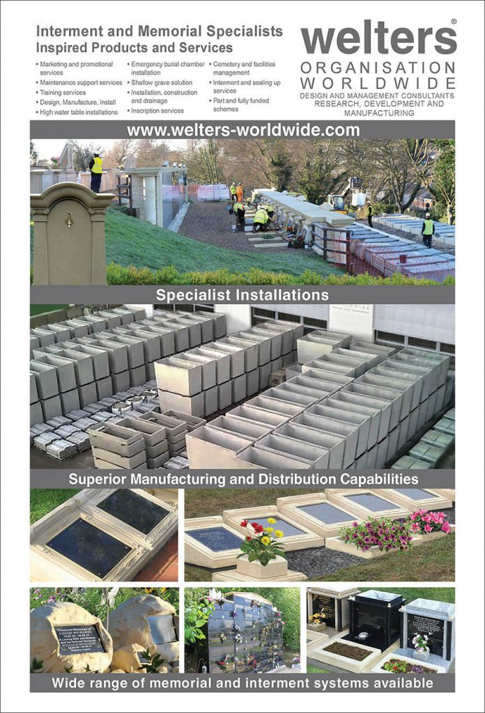 Designers, manufacturers and installers of proprietary above and below ground interment and memorial systems, including cremated remains facilities